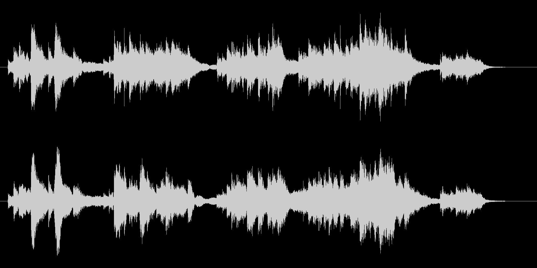 美しいバラード調ソロピアノ曲の未再生の波形