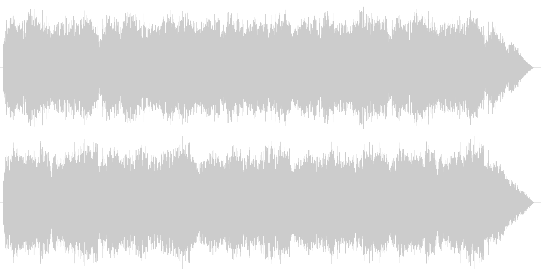木管と弦主体ののどかな村のイメージの未再生の波形
