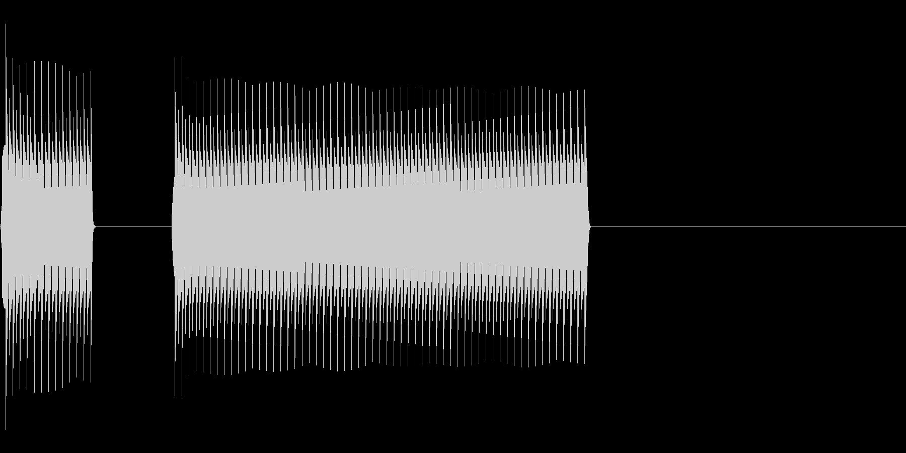 ブッブー(不正解・エラー)の未再生の波形