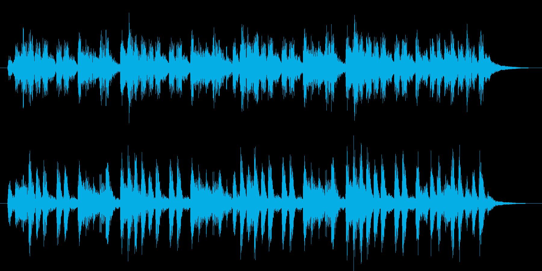ピチカートによる軽快なジングルの再生済みの波形