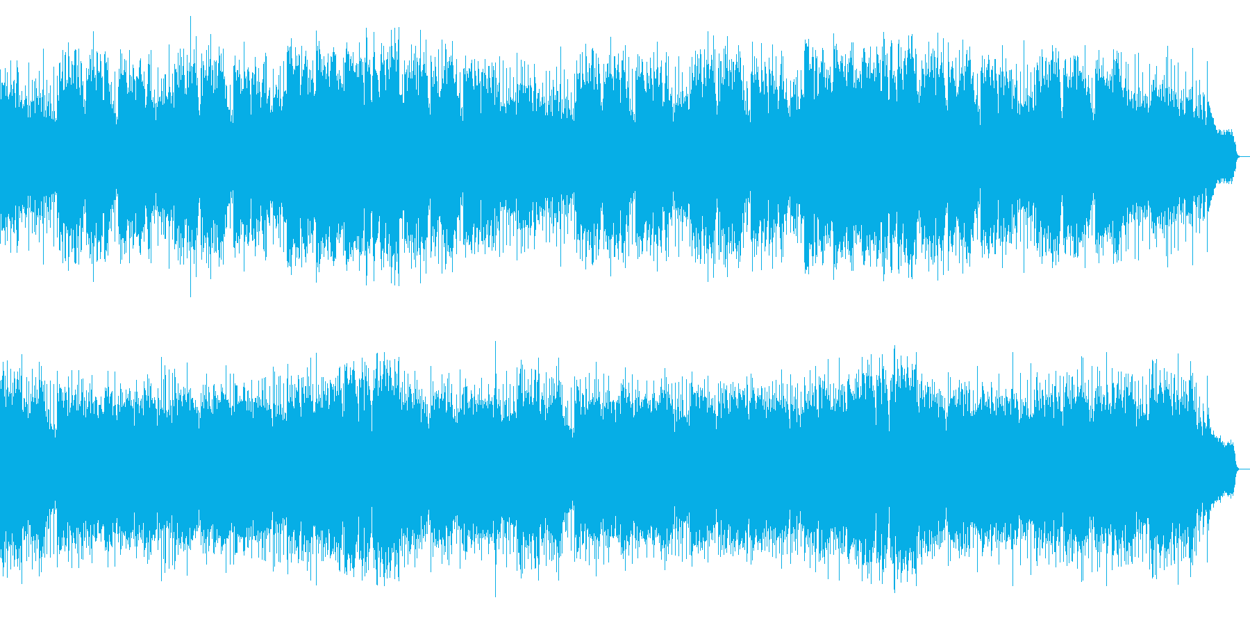 キラキラ感と重厚感もあるメロディアスな曲の再生済みの波形