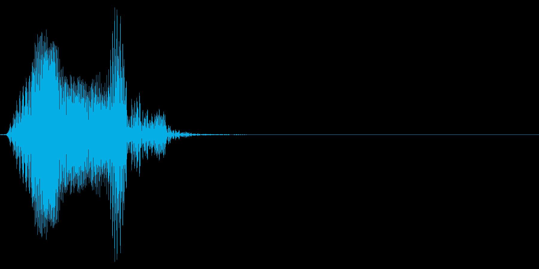 ゲーム掛け声男2やられ2の再生済みの波形