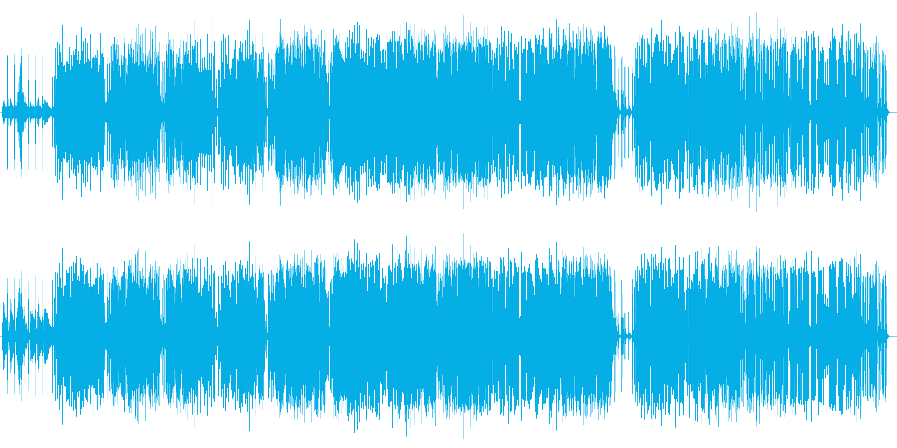 スローなジャズヒップホップの再生済みの波形