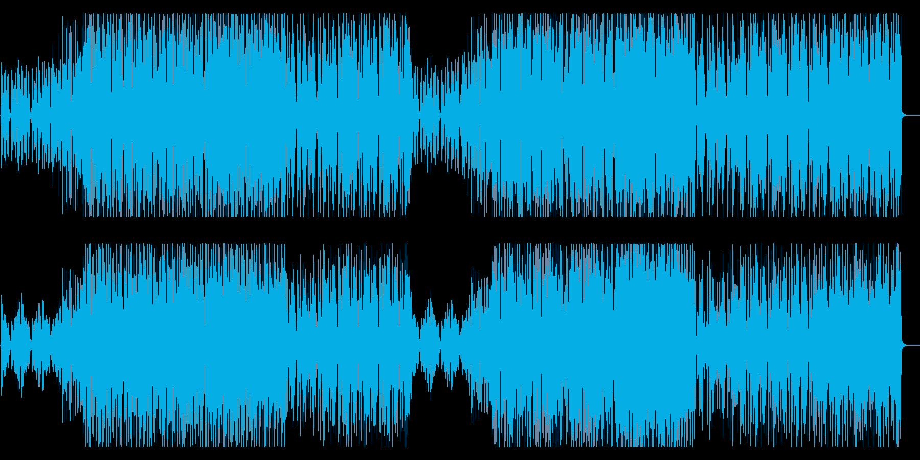ポップでファンシーなシンセサウンドの再生済みの波形
