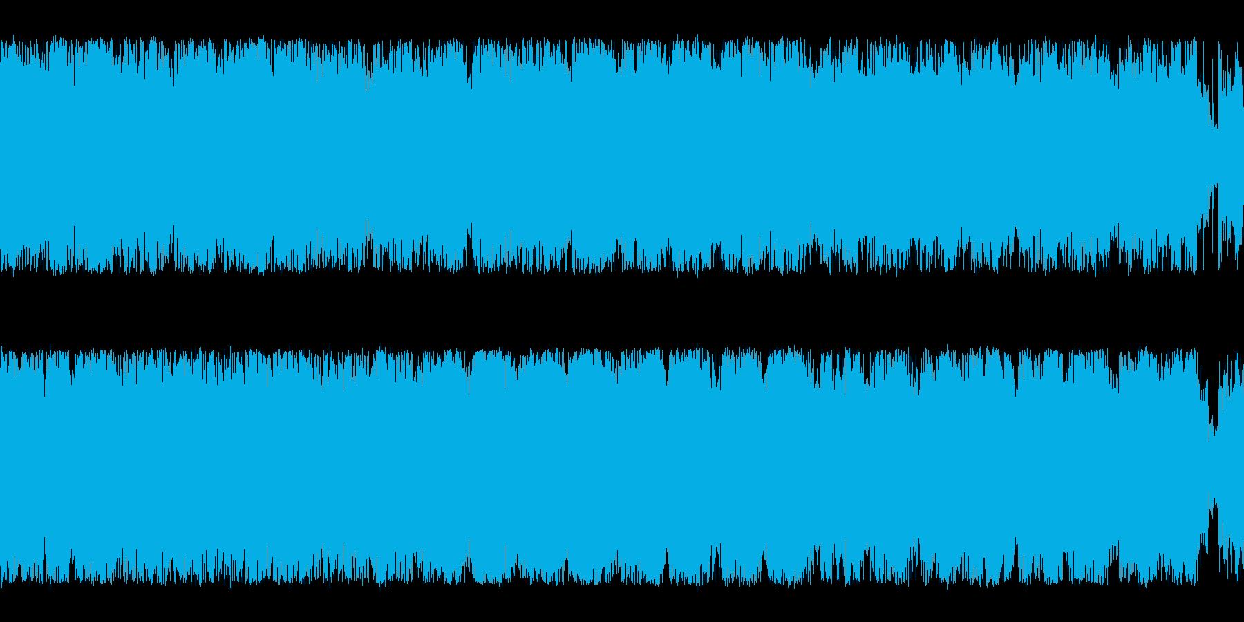 オーケストラとクワイア編成の森っぽいダ…の再生済みの波形
