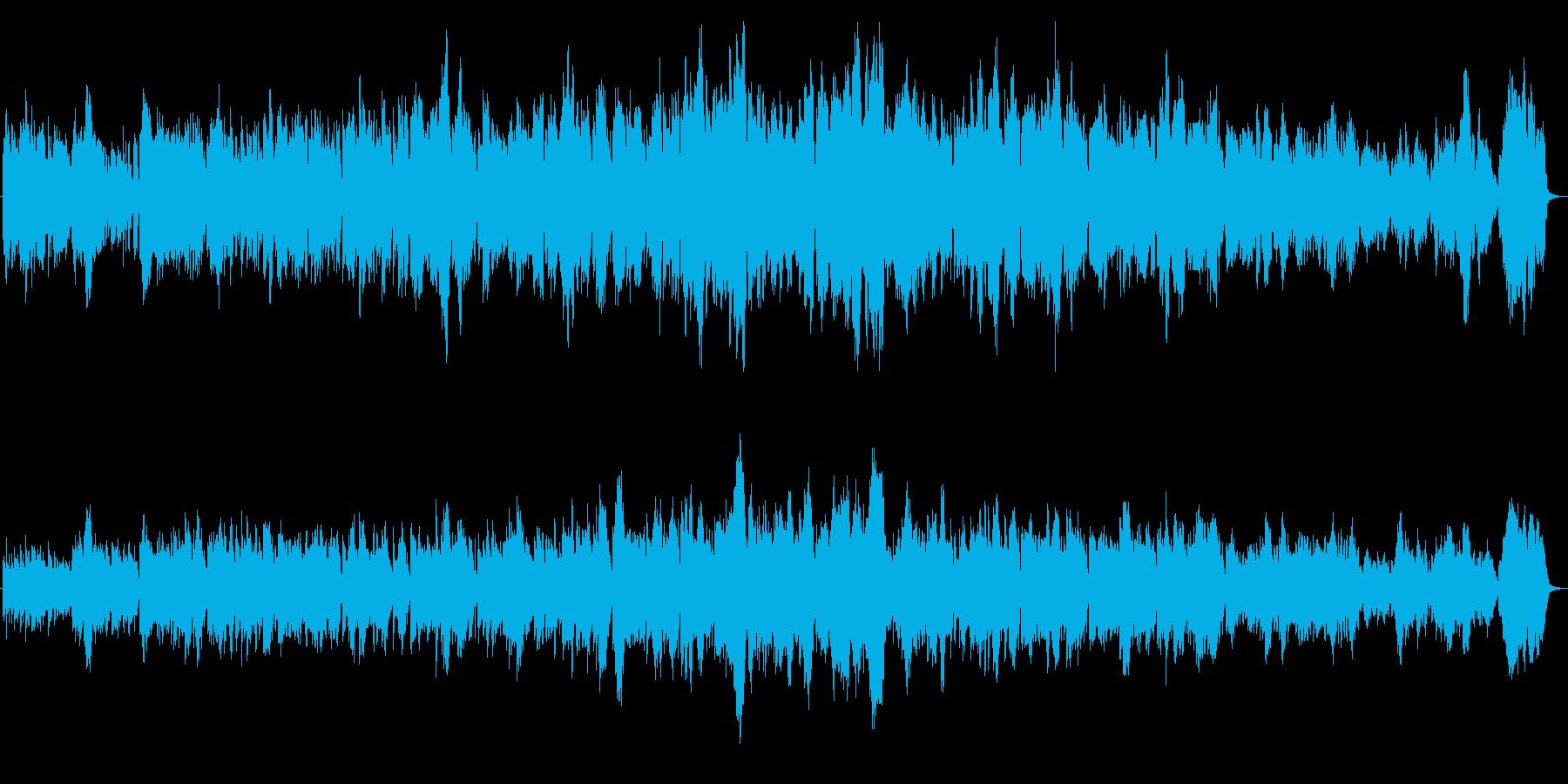 情感あふれるチェロとヴァイオリンのBGMの再生済みの波形