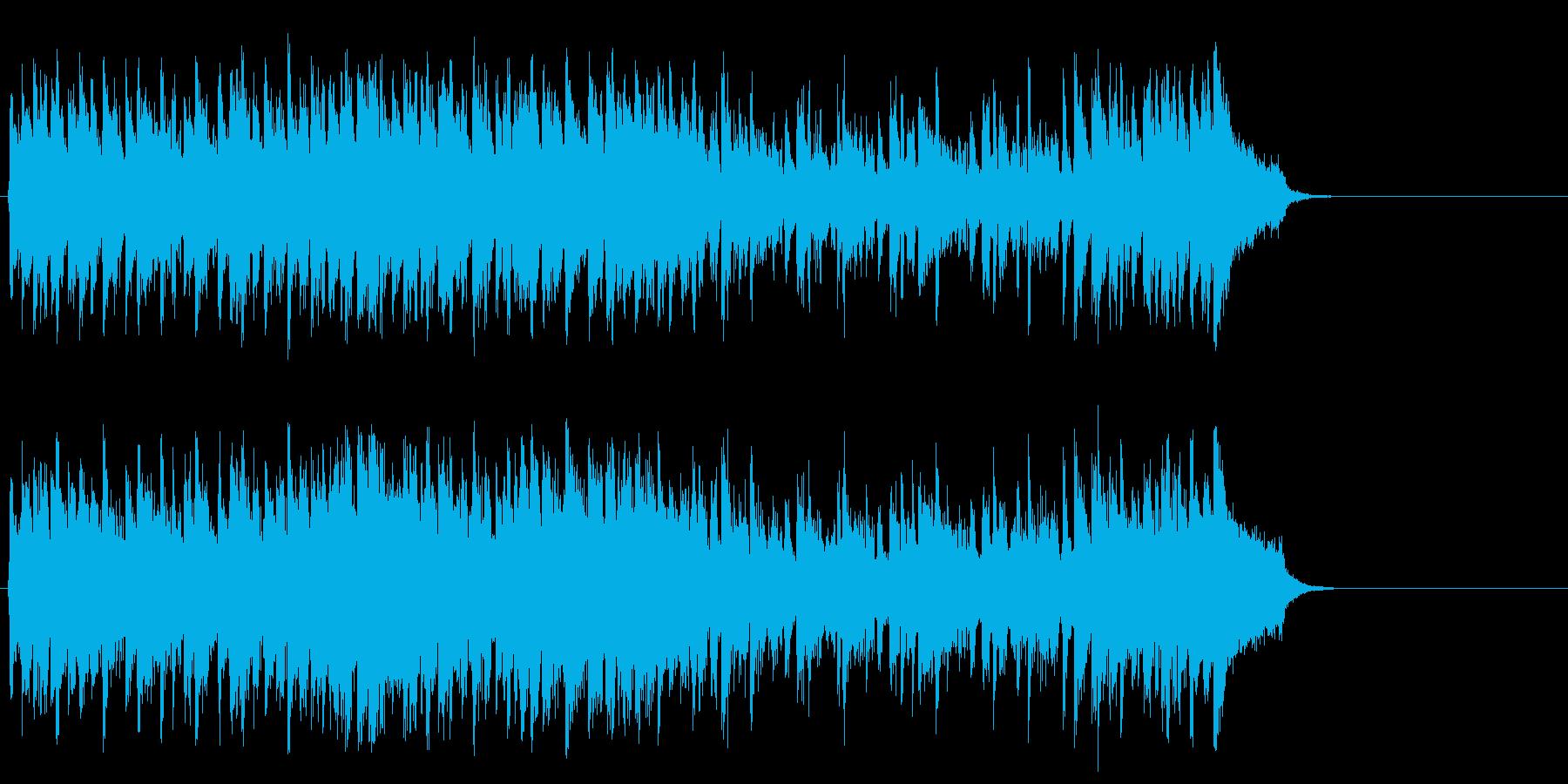 リゾート風のフュージョン(サビ~エンド)の再生済みの波形
