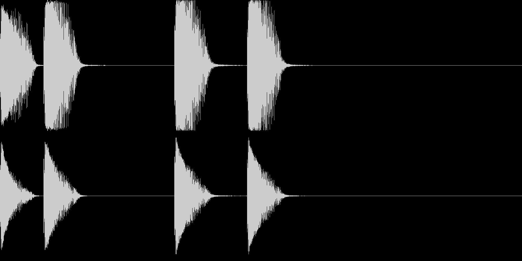 レーザー銃の未再生の波形