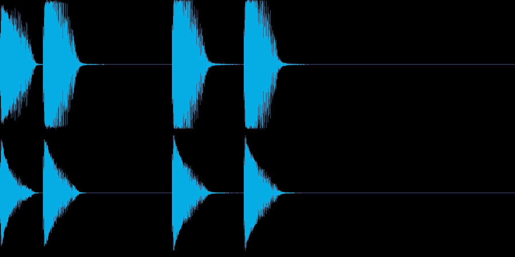 レーザー銃の再生済みの波形