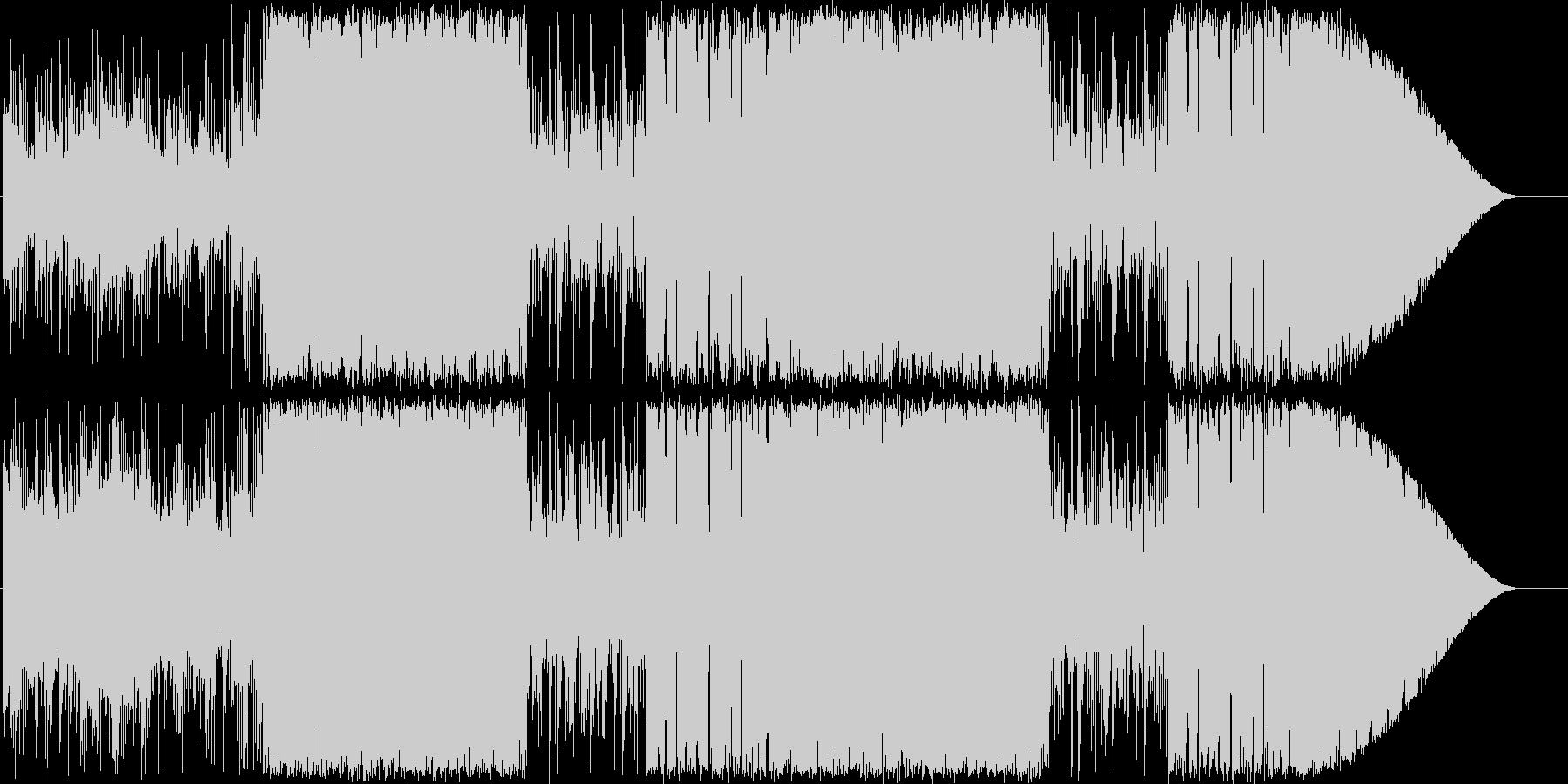 エレピとフルートの日常風BGMの未再生の波形