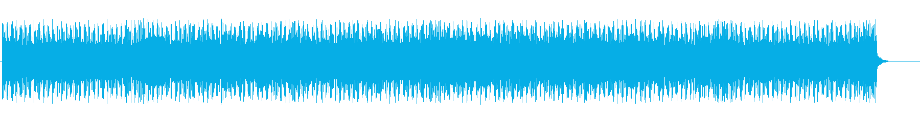 メカニカルなテクノBGMの再生済みの波形