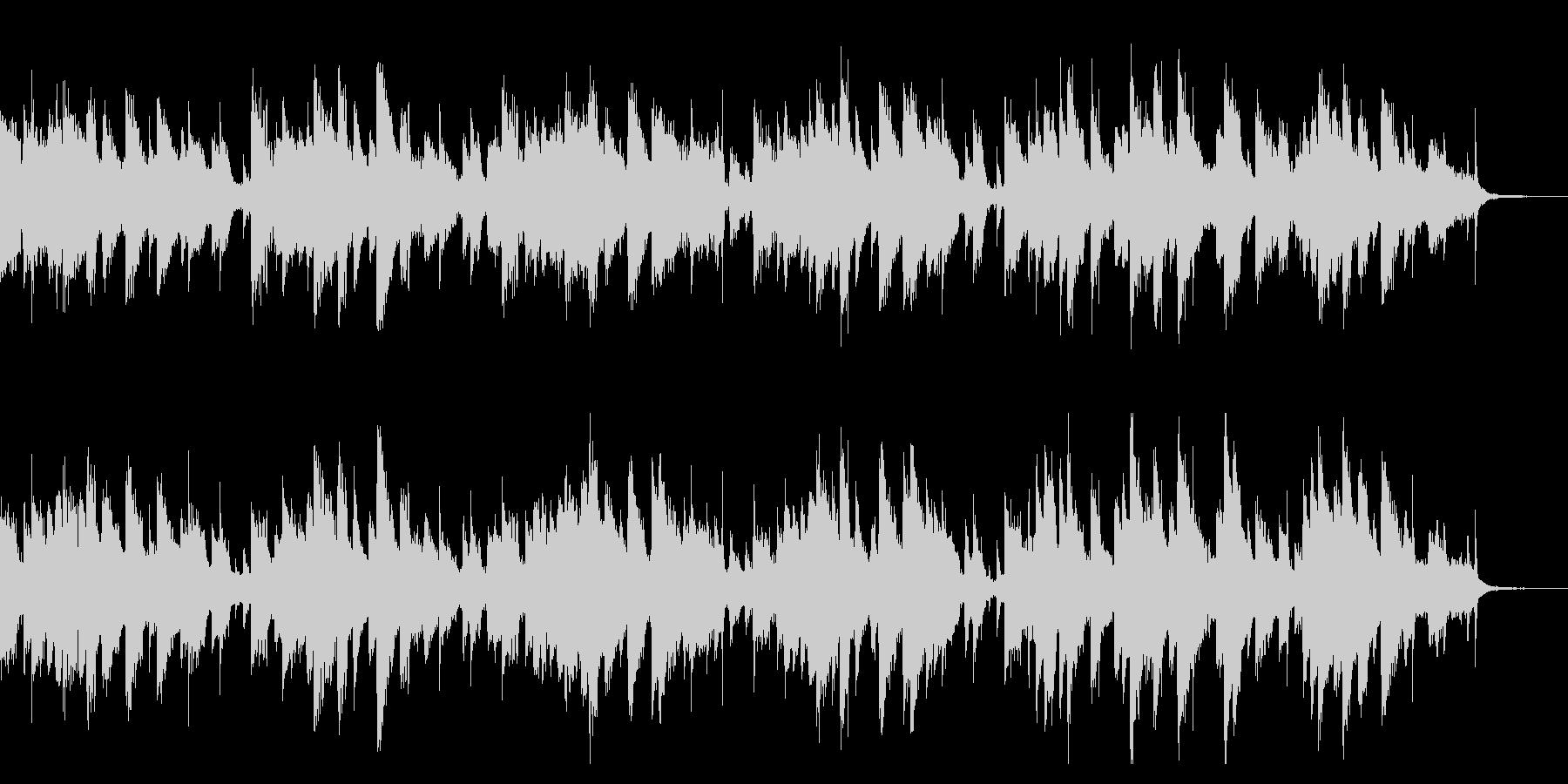 そよ風が歌うようなピアノ曲(1回)の未再生の波形