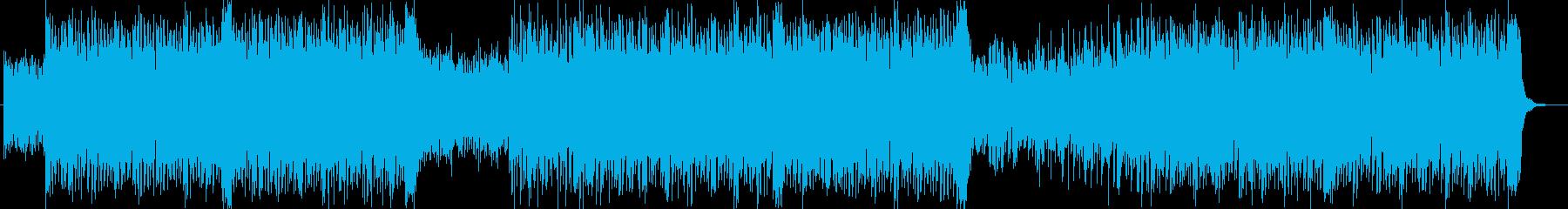スピーディーで軽快な近未来テクノポップの再生済みの波形