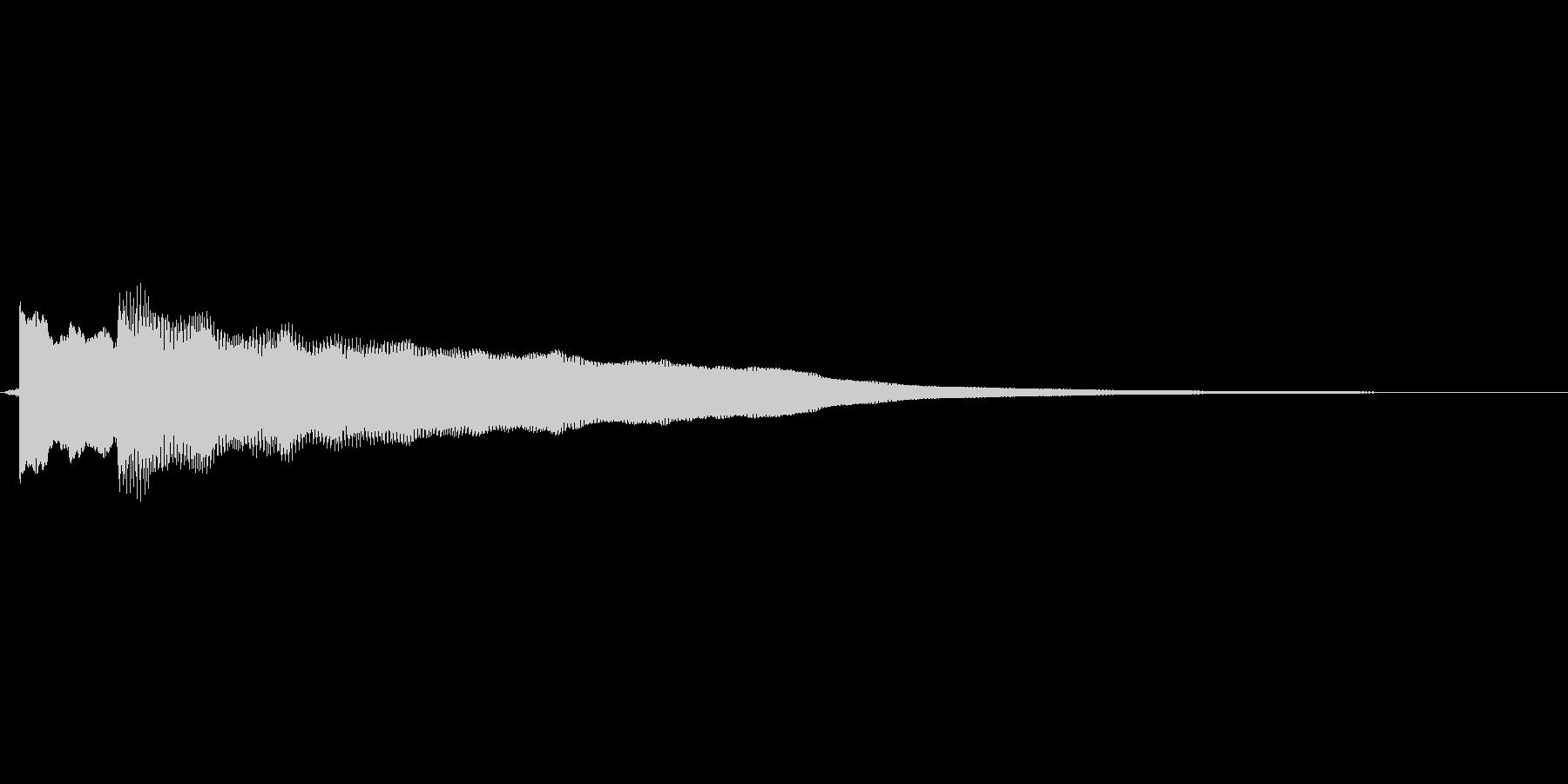 ピンポーン正解ですの未再生の波形