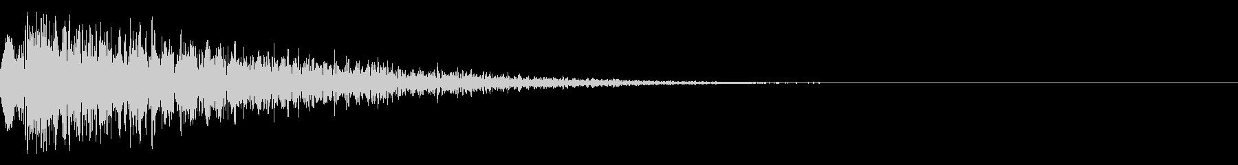 シネマチックな重低音インパクト5・ブーンの未再生の波形