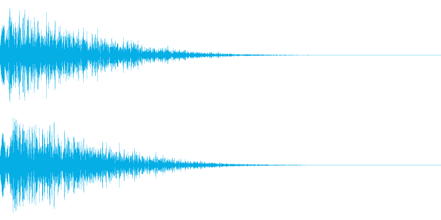 シネマチックな重低音インパクト5・ブーンの再生済みの波形