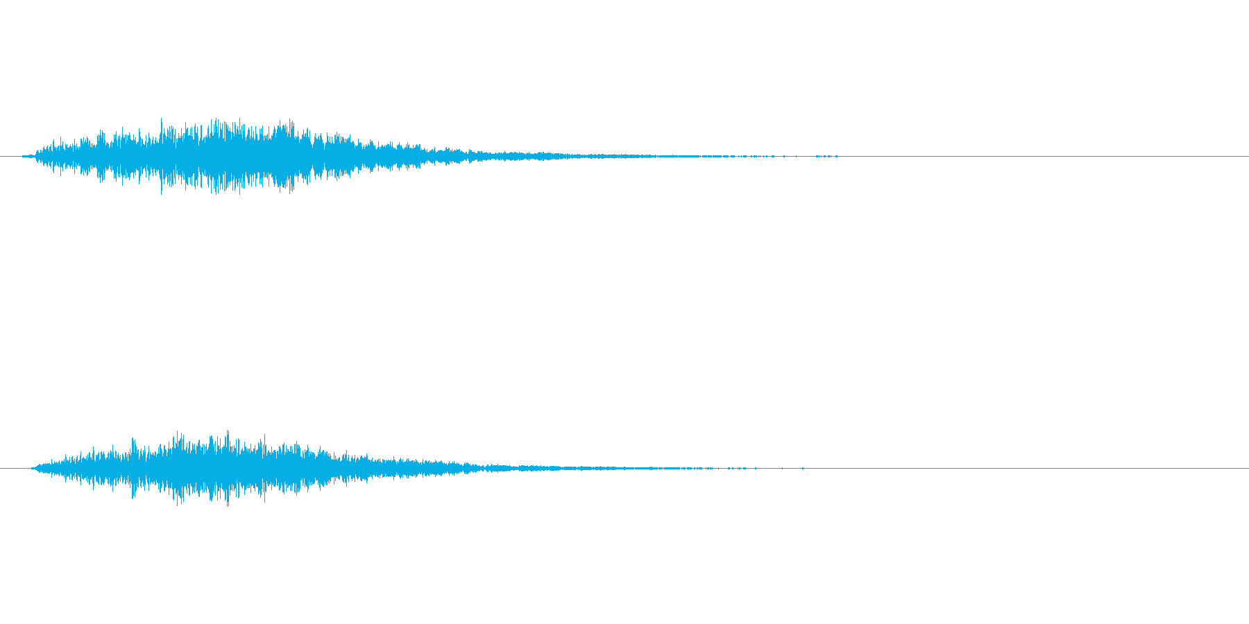 金属を打つような音ですの再生済みの波形