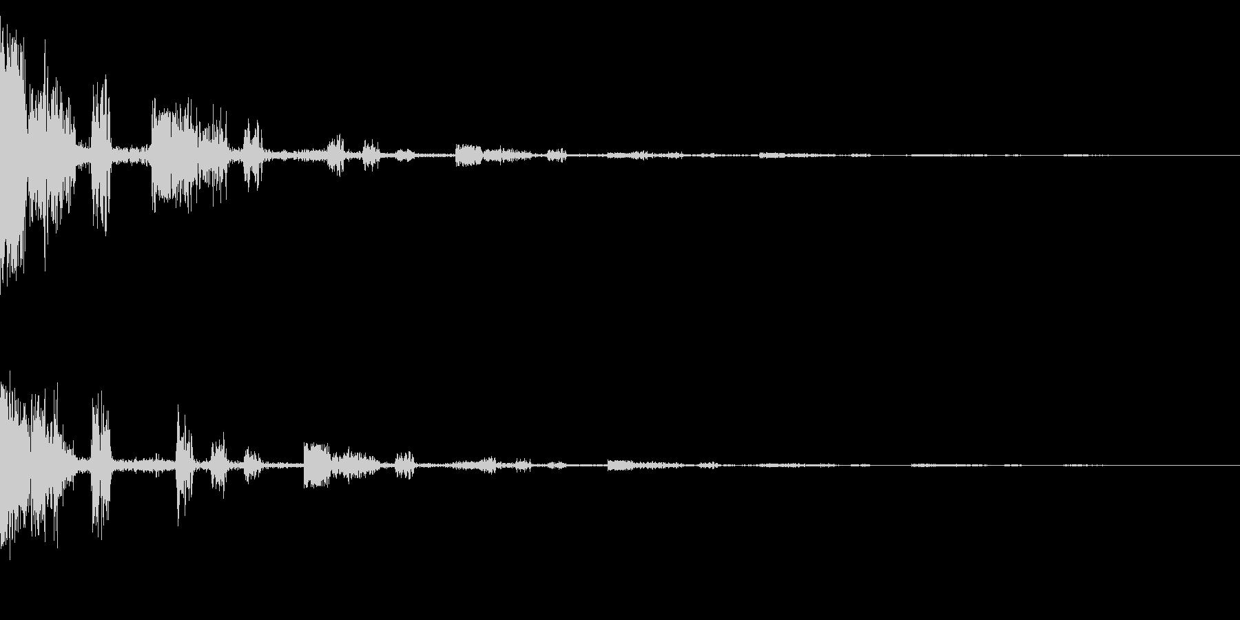 ホラー系アタック音16の未再生の波形