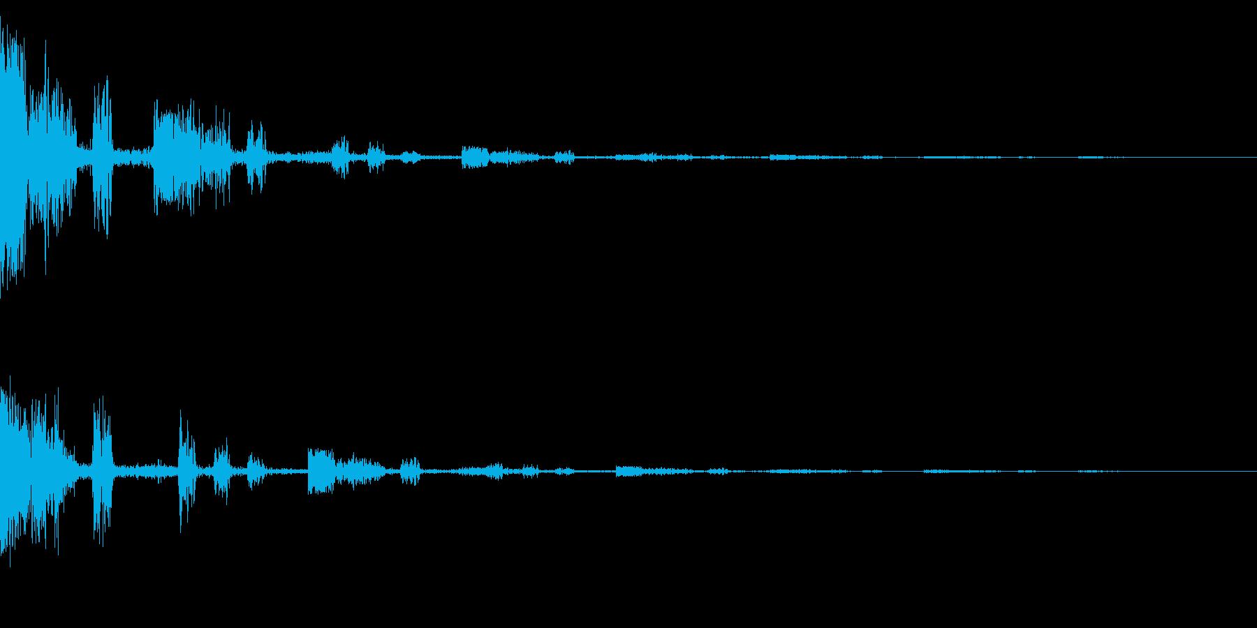 ホラー系アタック音16の再生済みの波形