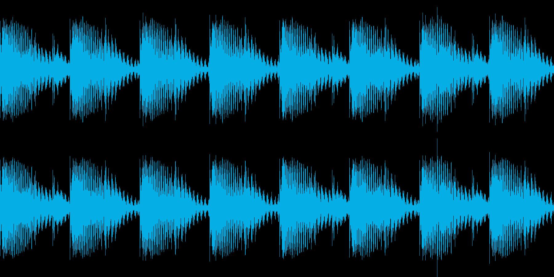 BPM128EDMリズムループ キーD#の再生済みの波形