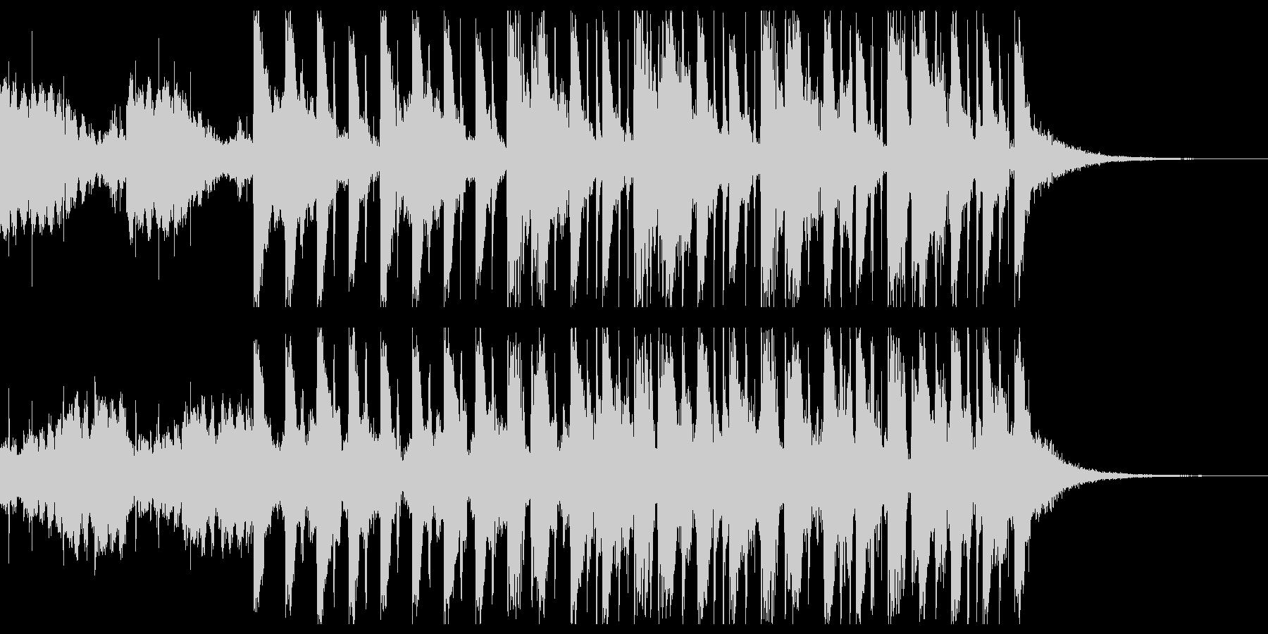 ふわふわした雰囲気の四つ打ちジングルの未再生の波形