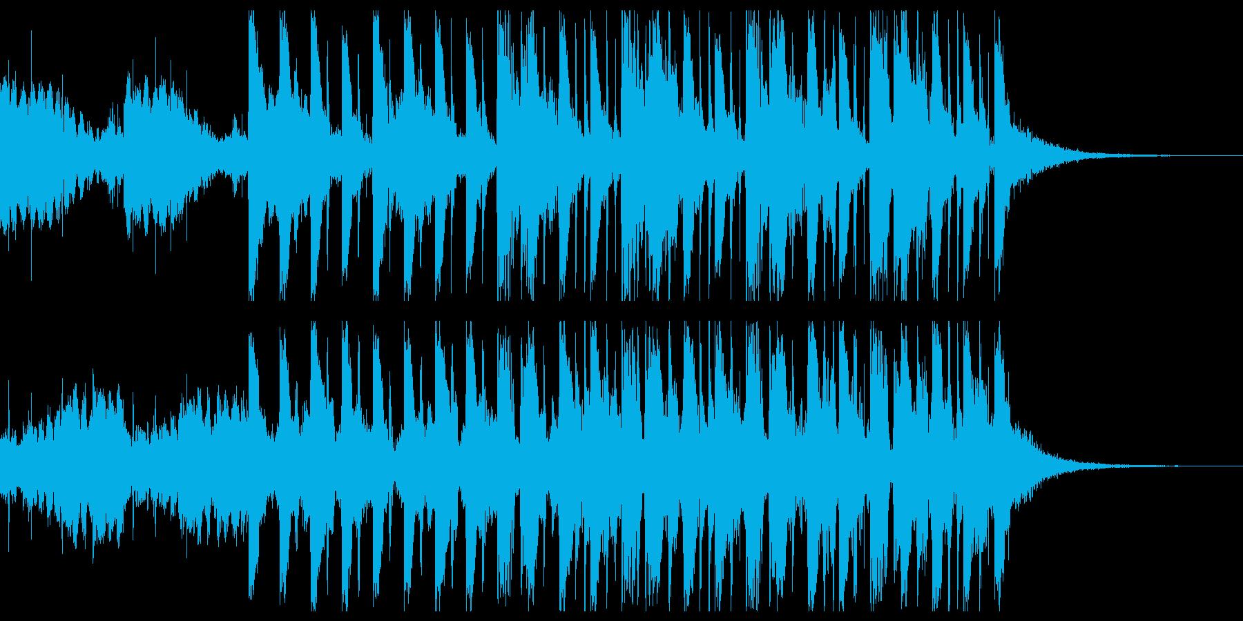 ふわふわした雰囲気の四つ打ちジングルの再生済みの波形