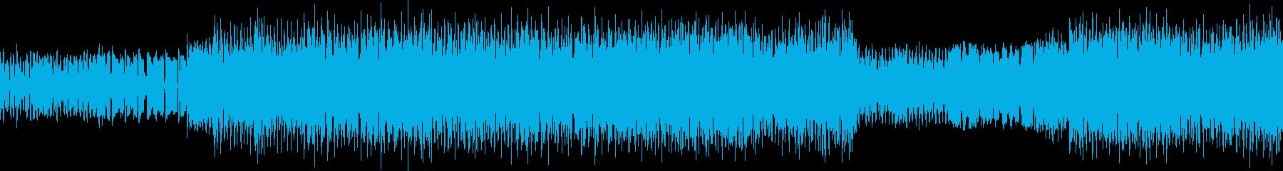 ファミコン風のインスト曲の再生済みの波形