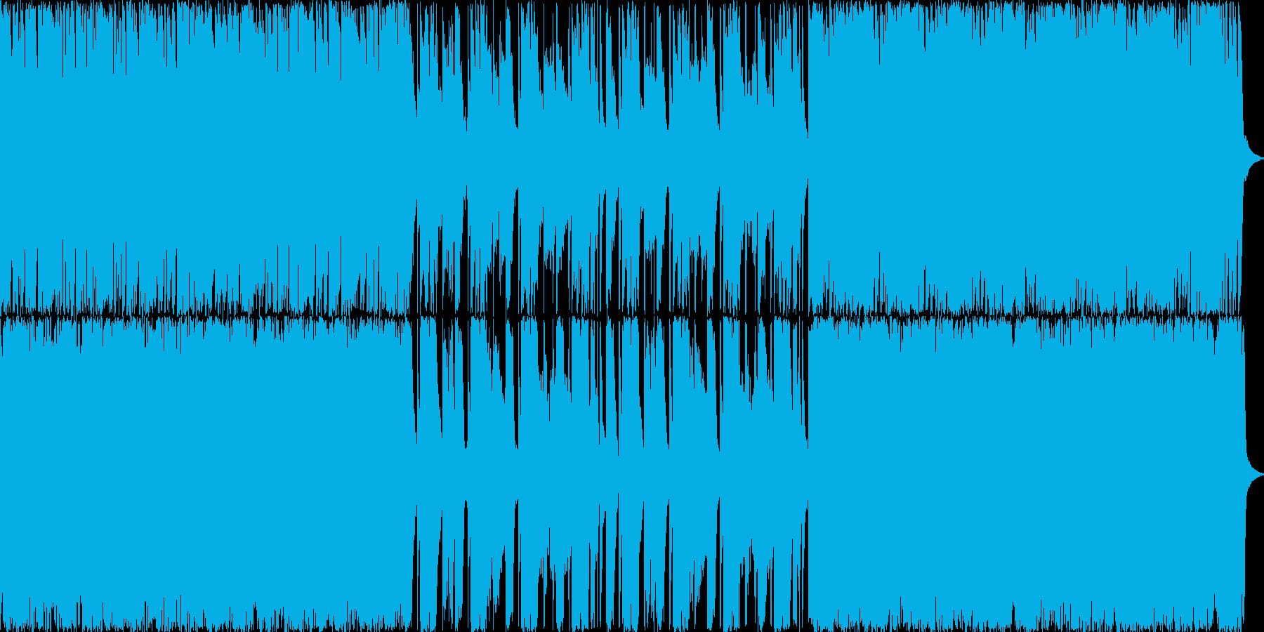 【メタル】怒りや悪意に満ちた重い雰囲気の再生済みの波形