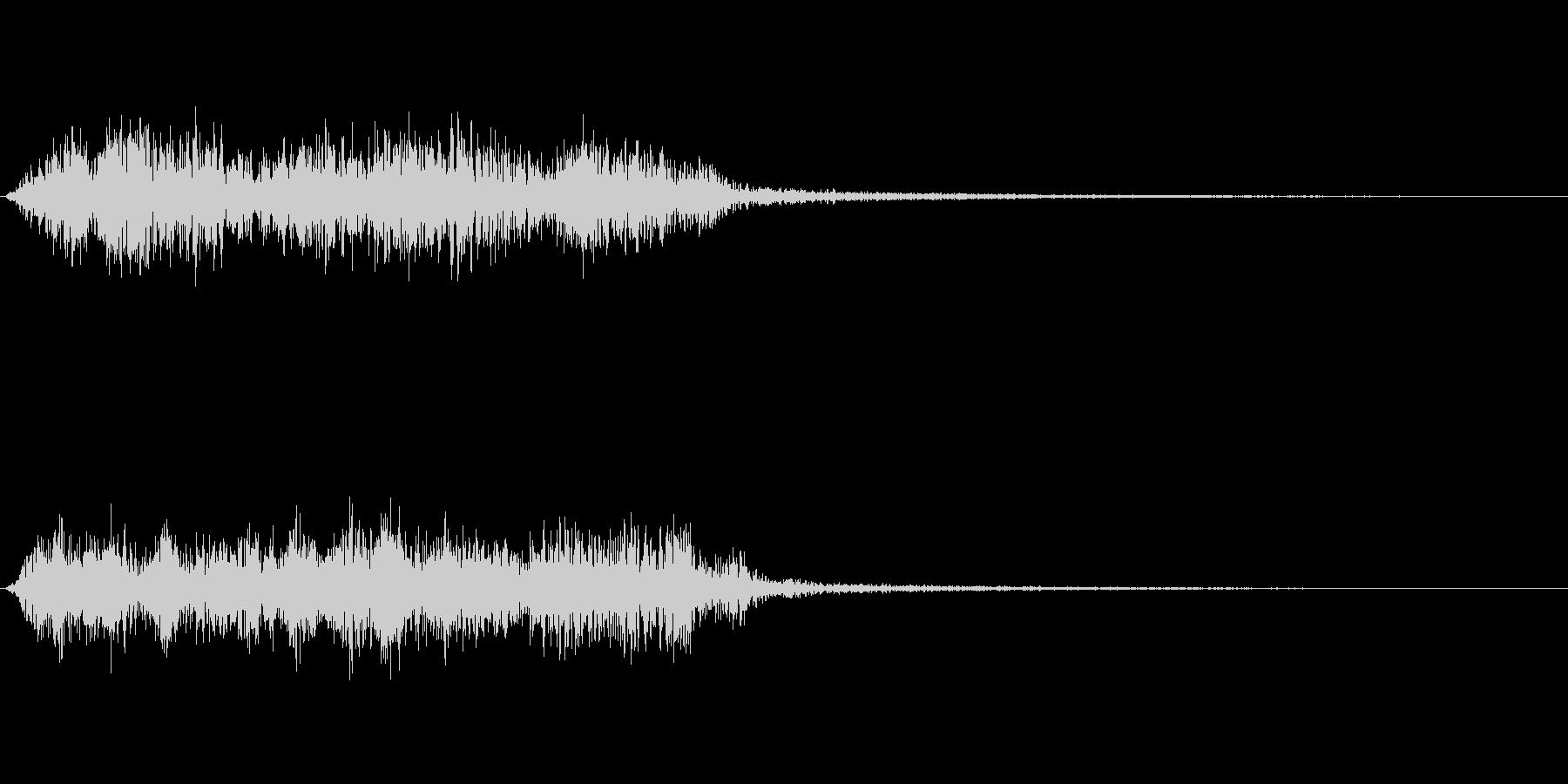 アンビエント感のあるノイズ効果音の未再生の波形