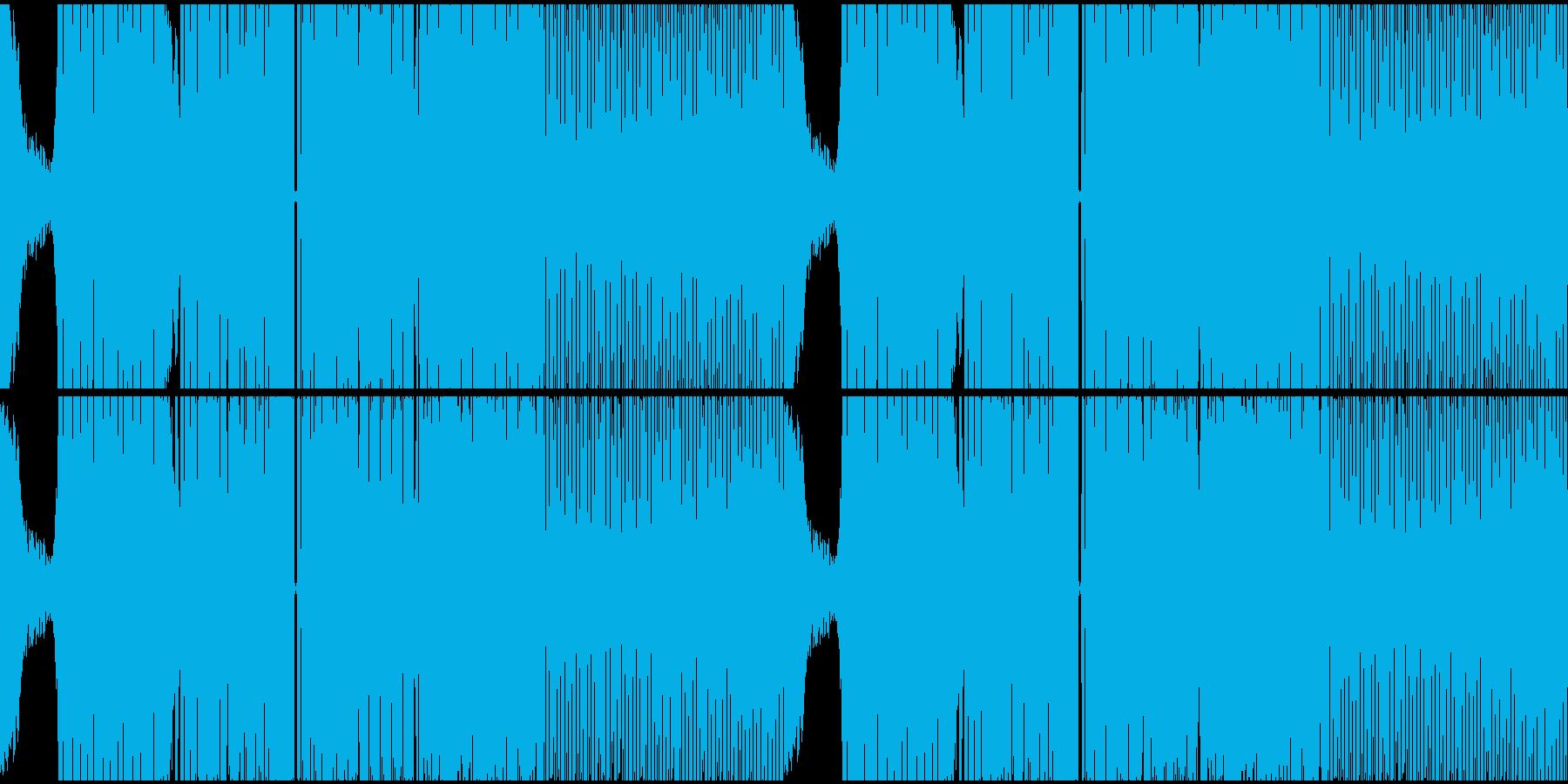 キャッチーでパワフルなEDMループの再生済みの波形