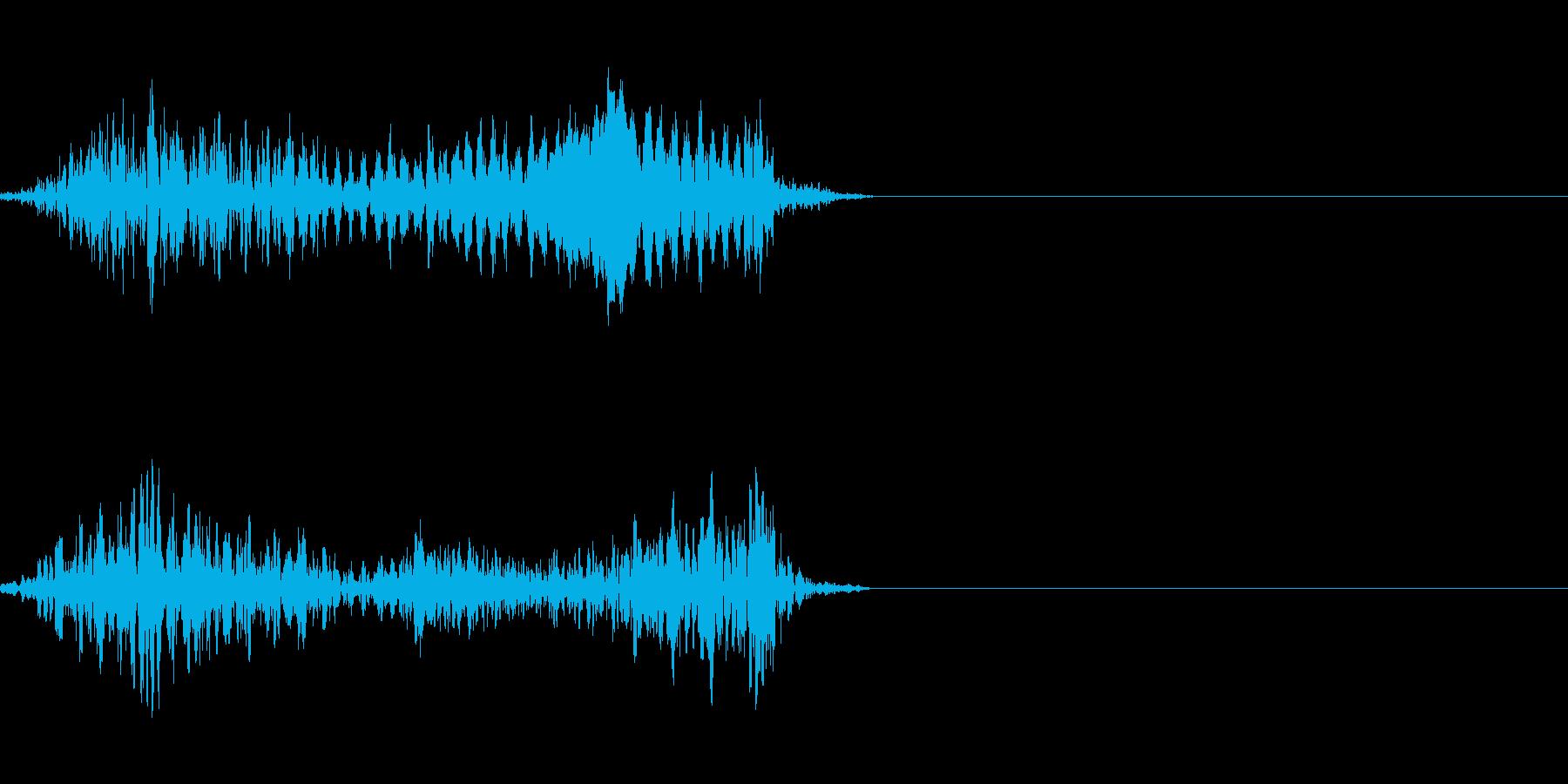 モンスターの発声に 7の再生済みの波形