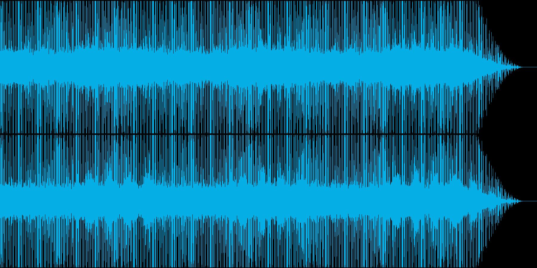 もの悲しげな電子音が絡む曲の再生済みの波形