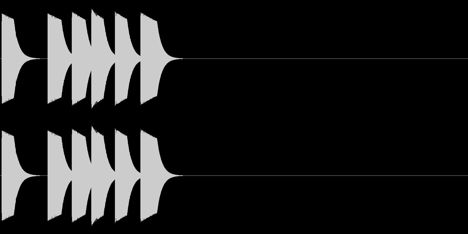 ピッピポッポヨの未再生の波形