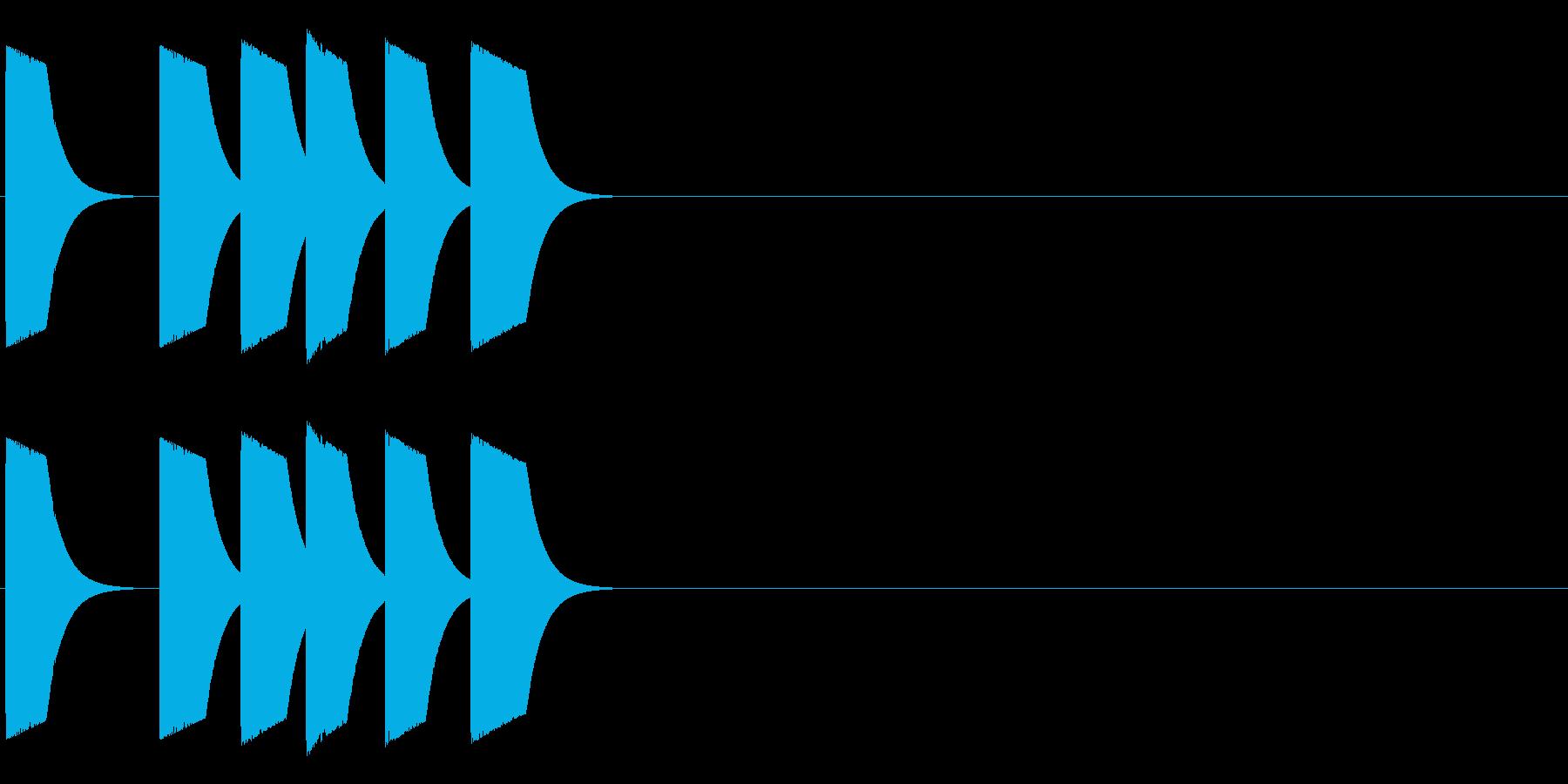 ピッピポッポヨの再生済みの波形