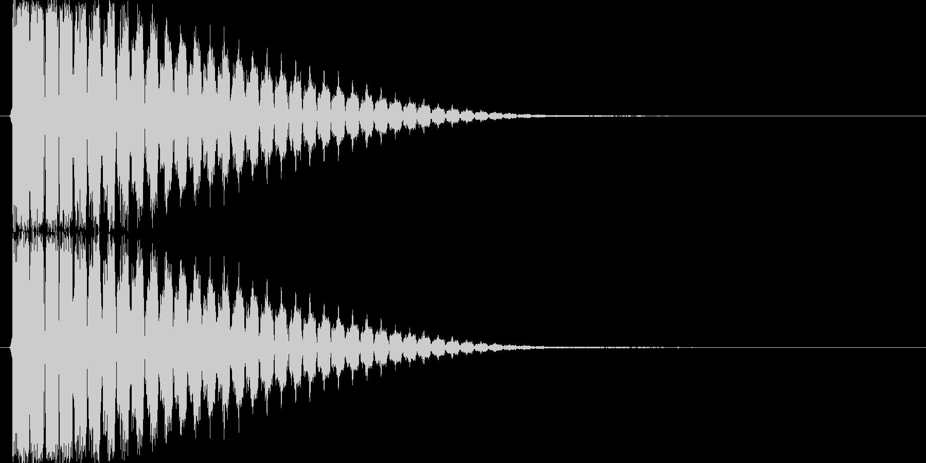 ピィーン(レーザー音、シューティング)の未再生の波形