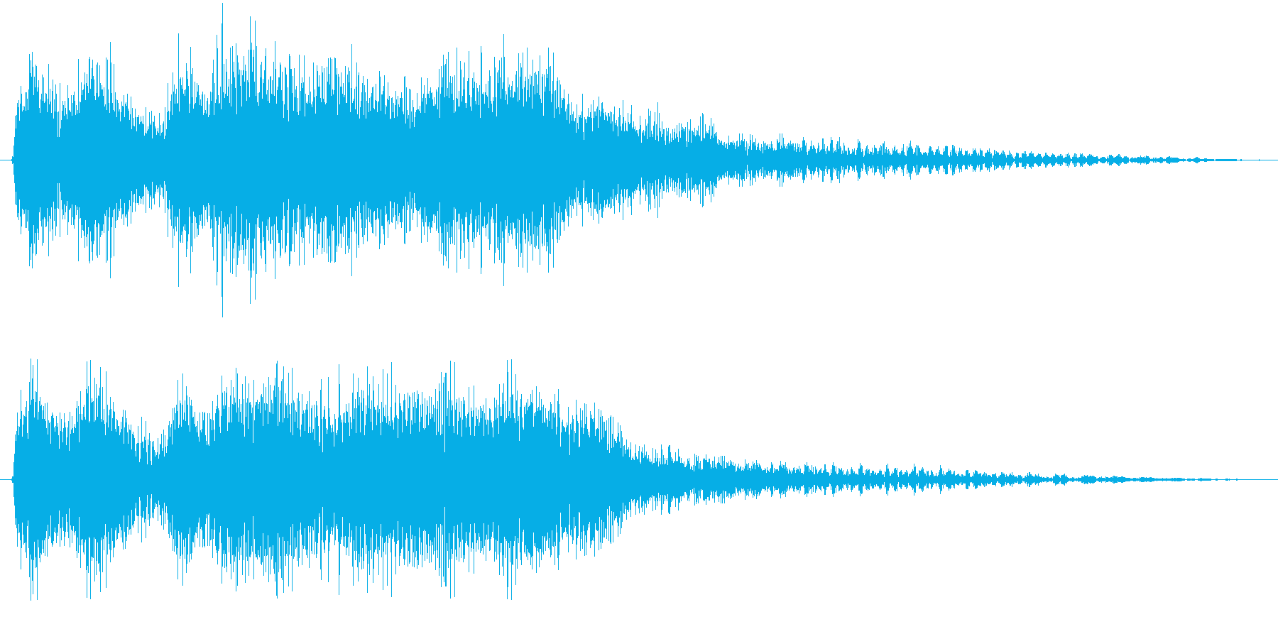 クラシックなイベント達成音ジングル7の再生済みの波形