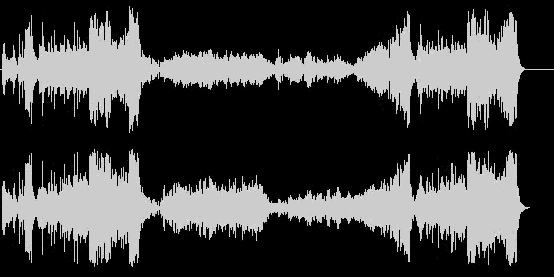 クラシック調のインフォメーションBGMの未再生の波形