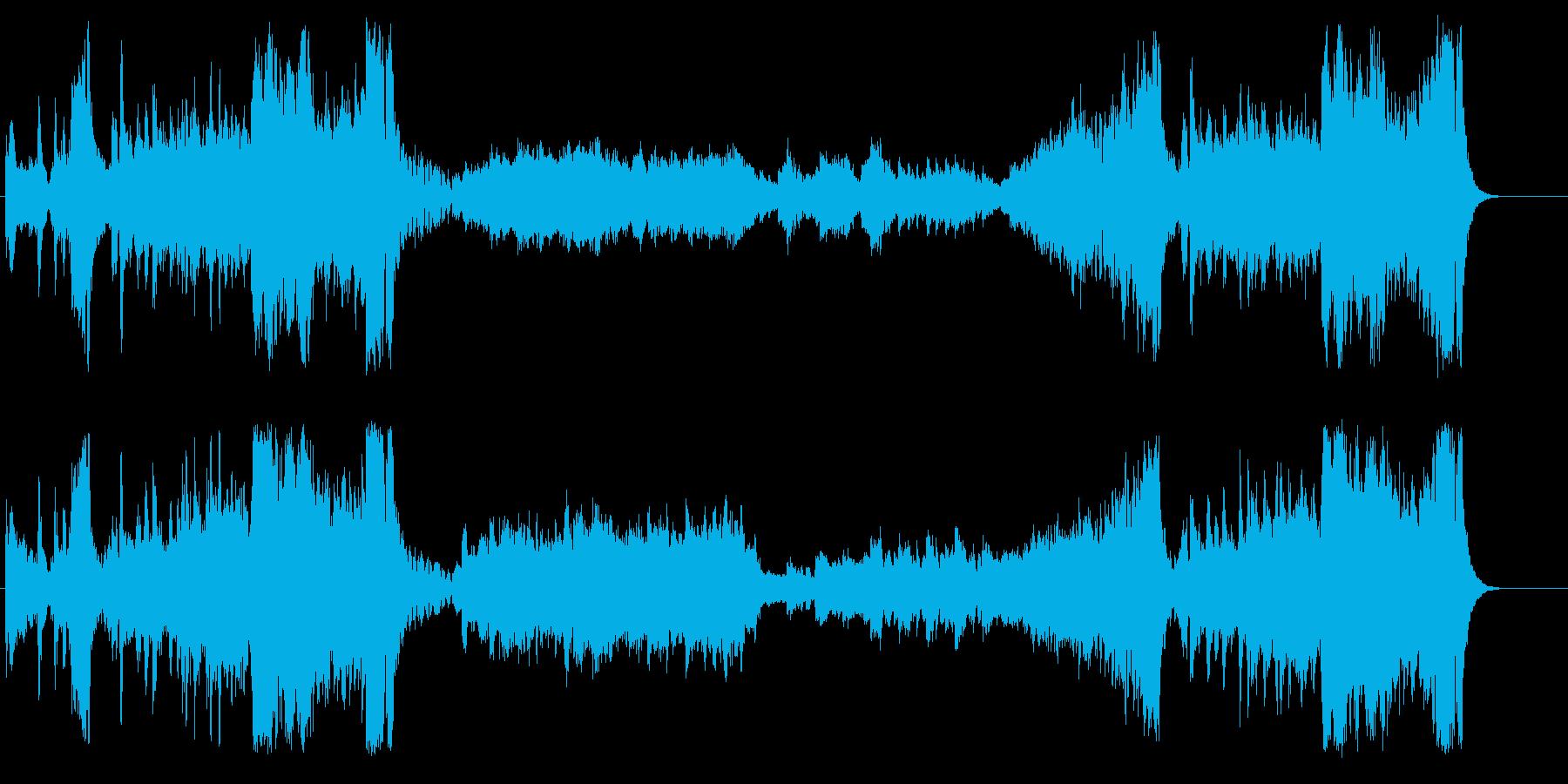 クラシック調のインフォメーションBGMの再生済みの波形