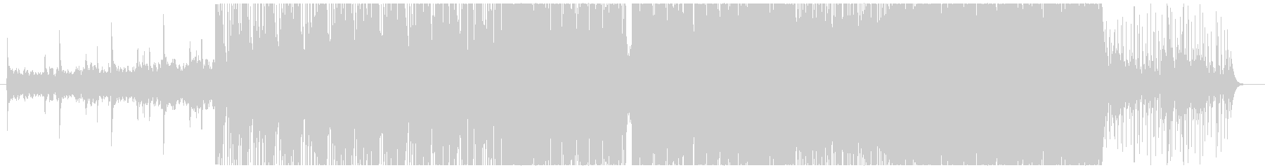 トライバルを意識したハード系インストの未再生の波形