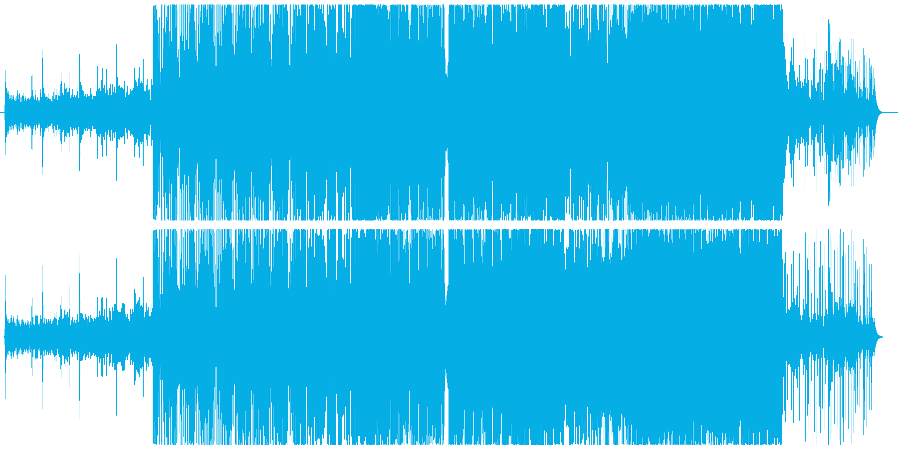トライバルを意識したハード系インストの再生済みの波形