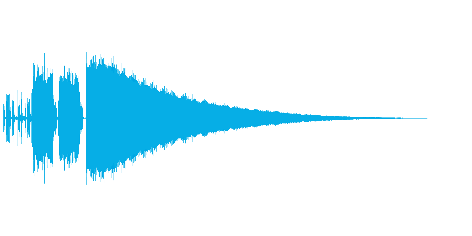 8bitレジ音の再生済みの波形