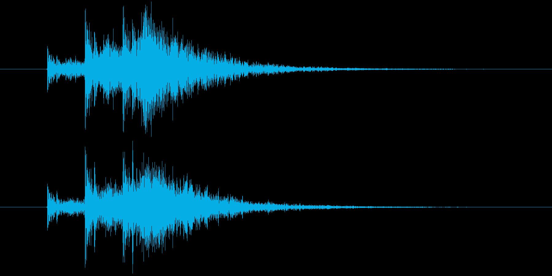 カカカン 拍子木 3連打の再生済みの波形