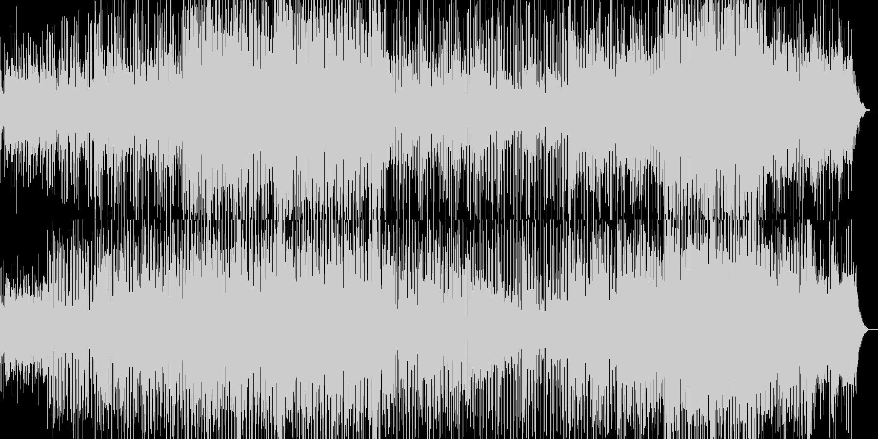 不安と押し寄せる緊張感が感じられるBGMの未再生の波形