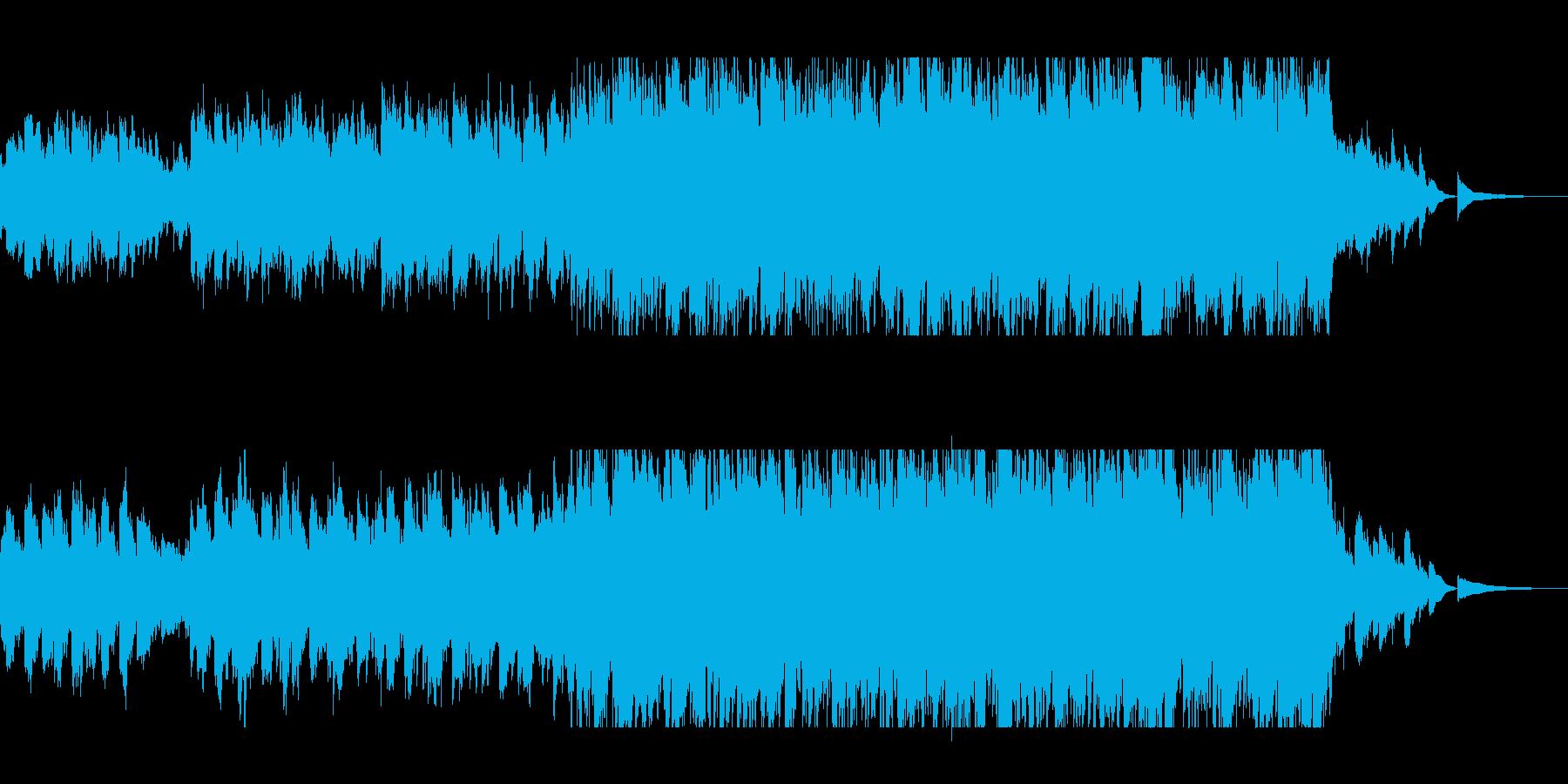 神秘的で透明感のあるピアノシンセサウンドの再生済みの波形