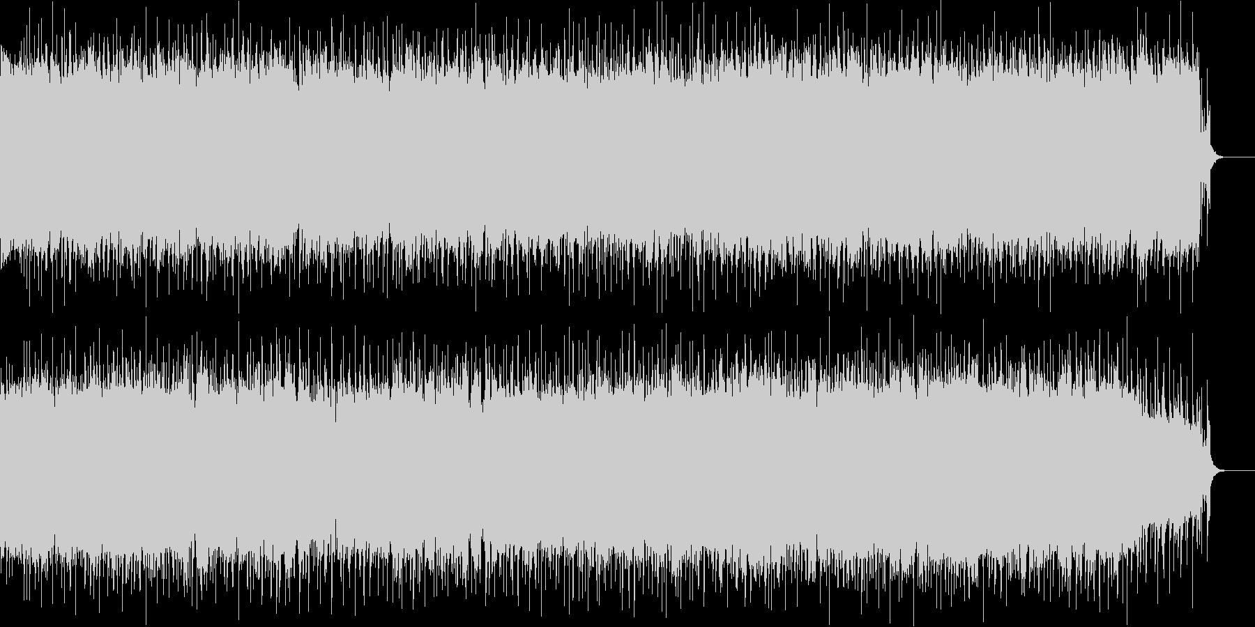 クラシックロック風で軽快なロックの未再生の波形