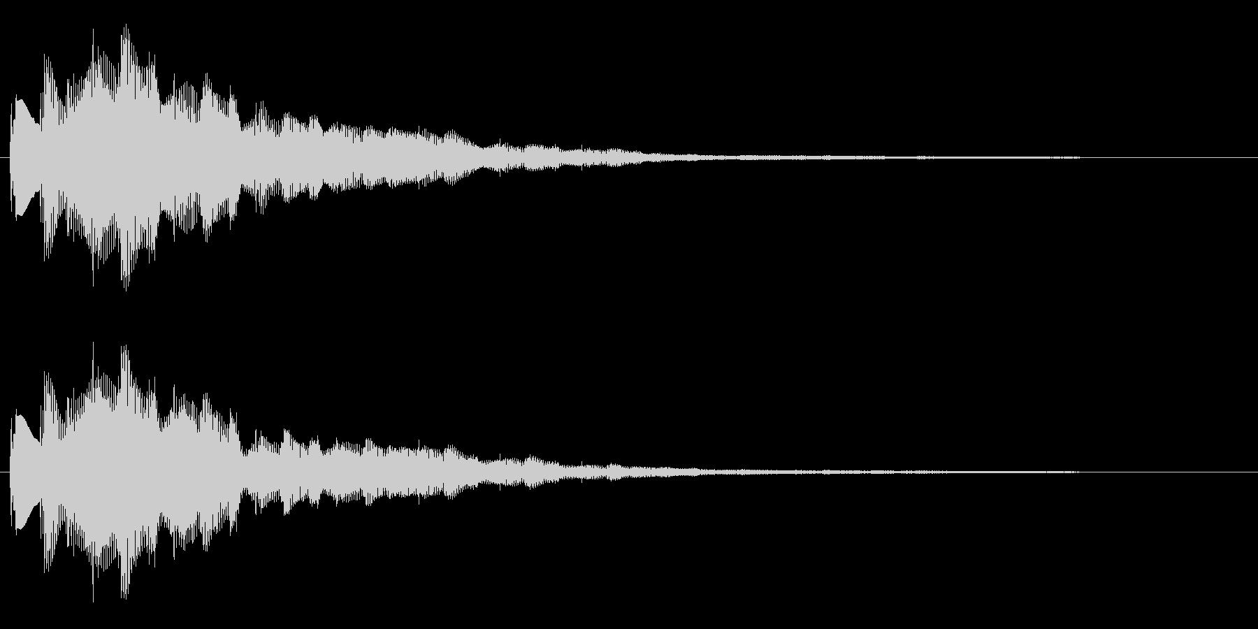 おしゃれなセレクト・ポーズ・決定音2 長の未再生の波形