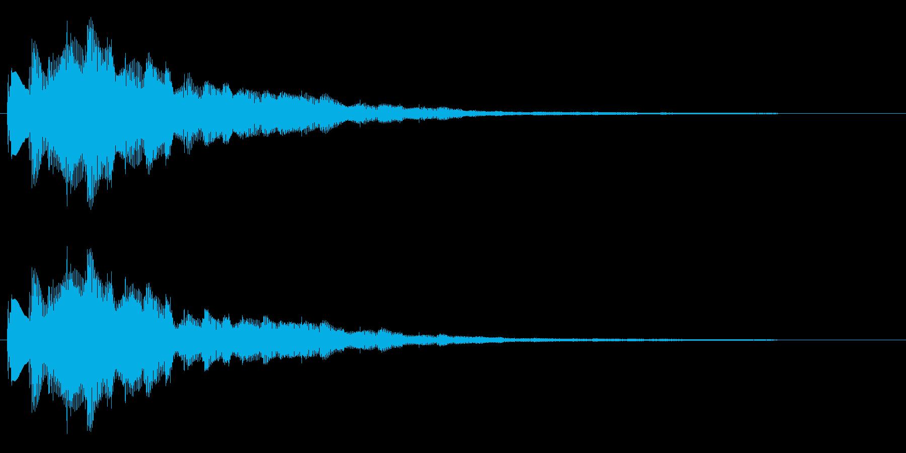 おしゃれなセレクト・ポーズ・決定音2 長の再生済みの波形