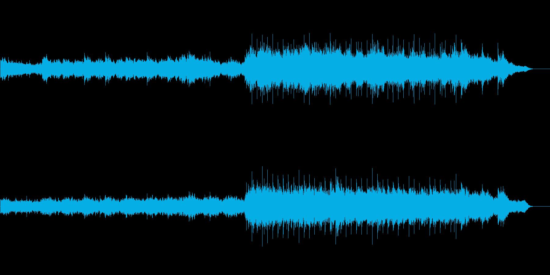 前向き、勇敢→キラキラ明るい オケBGMの再生済みの波形