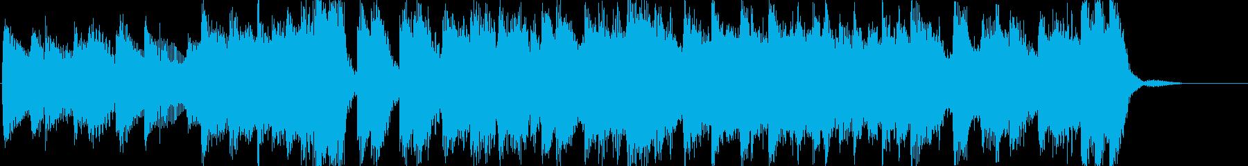 ピアノロックで明るい元気のある曲の再生済みの波形