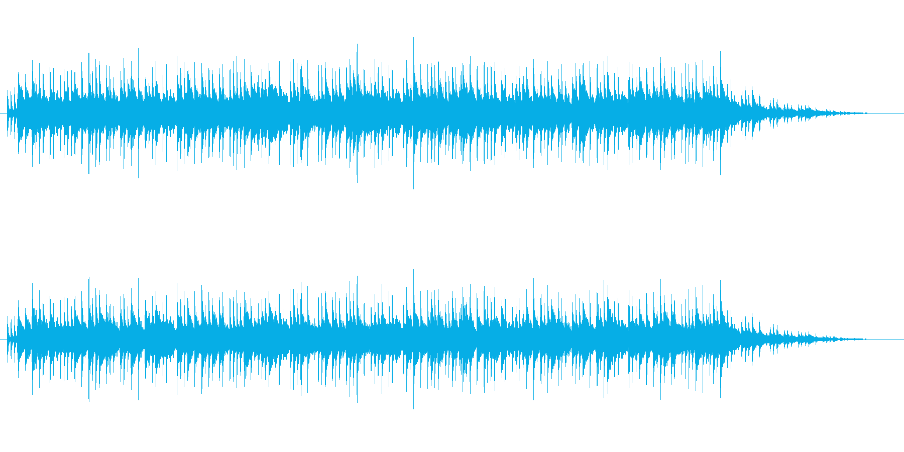 明るいフュージョンの再生済みの波形